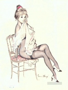 Pin up Painting - pin up girl nude 083