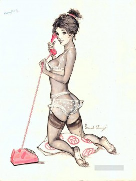 Pin up Painting - pin up girl nude 084