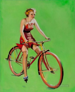 Pin up Painting - pin up girl nude 092