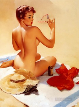 Pin up Painting - shell game shell shocked pin up