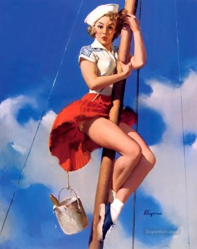 Pretty Art - sitting pretty pin up