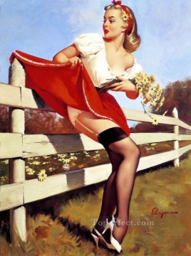 Pin up Painting - vintage pin up girls pin up gil elvgren