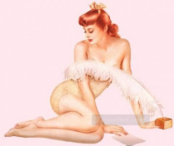 nd0429GD realistic from photos women nude pin up Oil Paintings