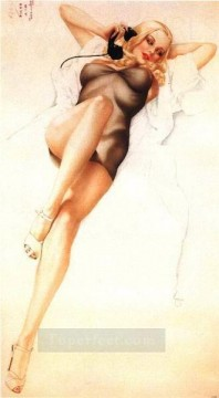 nd0444GD realistic from photo woman nude pin up Oil Paintings