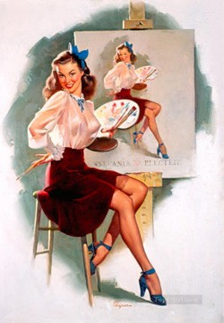 Pin up Painting - Joyce Ballantyne pin up