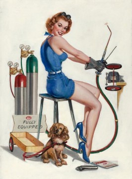 Pin Up Girl And Glamour Oil Paintings