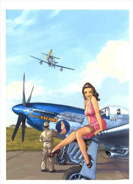 Pin up Painting - pin up girl nude 079