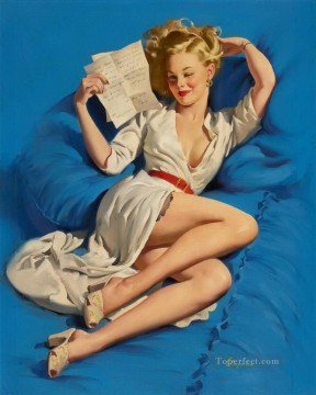 Pin up Painting - too good pin up