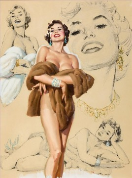 pin up girl nude 005 Oil Paintings