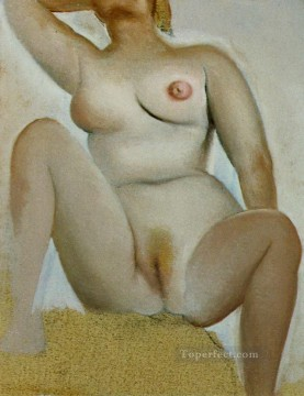 Female Seated sexy nude Oil Paintings