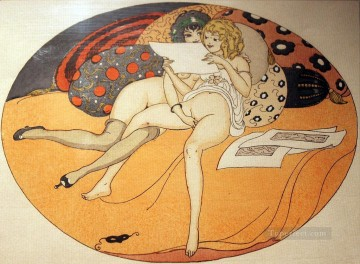 Lesbians Touching Gerda Wegener Erotic Adult Oil Paintings
