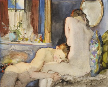 sexual deco art - THE LOVERS Konstantin Somov sexual naked nude