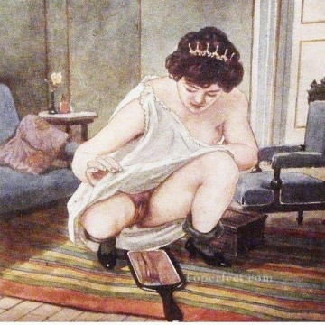 watch vagina Gerda Wegener Erotic Adult Oil Paintings