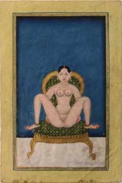 Nude and Ballerina Painting - Asanas from a Kalpa Sutra or Koka Shastra manuscript 4 sexy