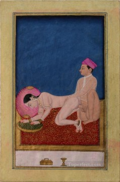 Asanas from a Kalpa Sutra or Koka Shastra sexy Oil Paintings
