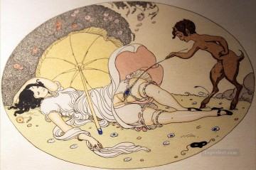 Les Delassements Sleeping Gerda Wegener Erotic Adult Oil Paintings