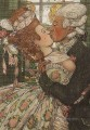 book of the marquise illustration 9 1918 Konstantin Somov sexual naked nude