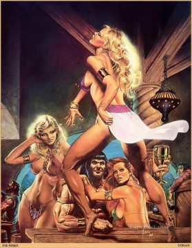 Gladius JoeJusko sexy nude Oil Paintings
