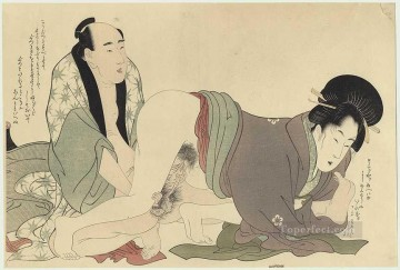 Prelude of desire Kitagawa Utamaro Sexual Oil Paintings