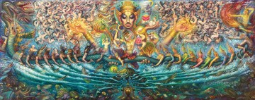 Churning of the Milk Ocean CK Buddhism Oil Paintings