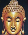 Buddha head in black Buddhism
