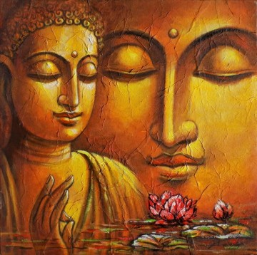 Buddha head on water Buddhism Oil Paintings