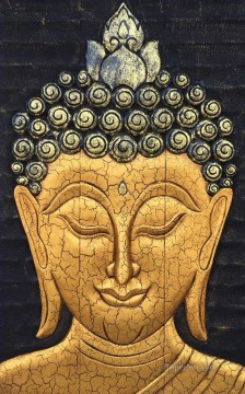 Buddha head sculpture style Buddhism Oil Paintings