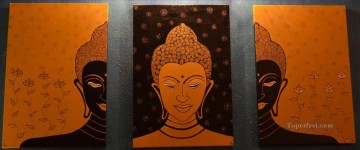 Buddha in orange Buddhism Oil Paintings