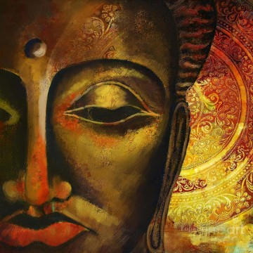 Face Of Buddha Buddhism Oil Paintings