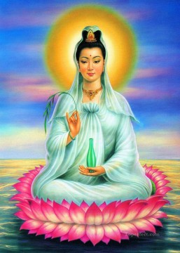 Buddhist Painting - Goddess of Mercy and Compassion Buddhism
