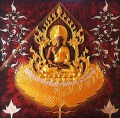 Thailand Buddha in gold and silver powder Buddhism