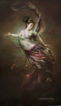 Buddhist Painting - The Moon Goddess of Mercy and Compassion Buddhism