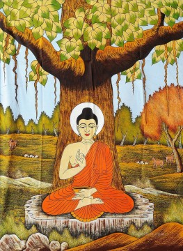 The sacred Bodhi tree Buddhism Oil Paintings