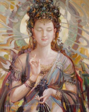 Buddhist Painting - beautiful godness Buddhism