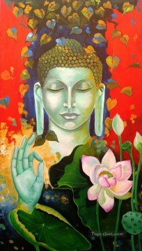 Buddhist Painting - buddha and lotus Buddhism