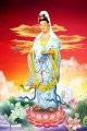 godness of mercy on lotus Buddhism