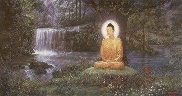 Buddhist Painting - prince siddhattha attained supreme enlightenment and became the buddha Buddhism
