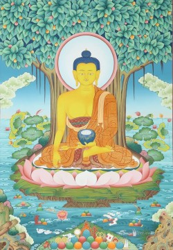 Buddha banyan Thangka Buddhism Oil Paintings