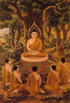 Buddha sermon Buddhism Oil Paintings