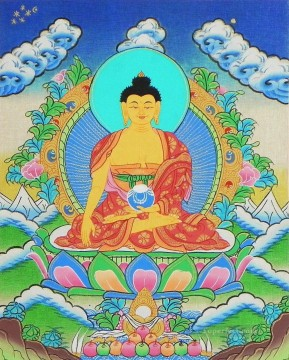 Shakyamuni Buddha Thangka Buddhism Oil Paintings