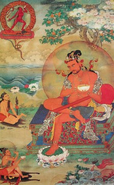 Buddhist Painting - Buddha Weekly The Great Naropa Six Yogas Buddhism
