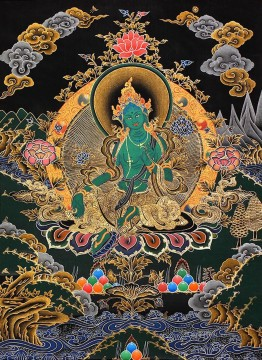 Tibet Tibetan Thangka Tangkas Buddha Buddhism Oil Paintings