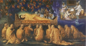 mahaparinibbana the buddha final passing away for the attainment of the ultimate deliverance Buddhism Oil Paintings