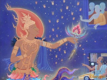 Buddhist Painting - Black Magic Defies Goddess CK Buddhism