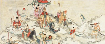Buddhist Painting - A Chinese Immortals Ritual Buddhism