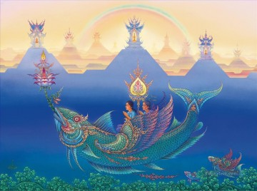Clairvoyant in Heaven CK Buddhism Oil Paintings