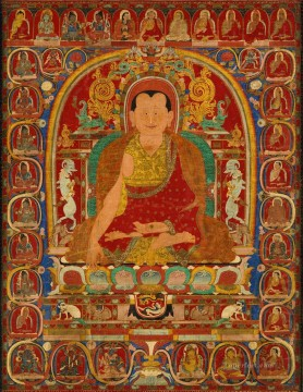Portrait of an abbot Tibetan Buddhism Oil Paintings