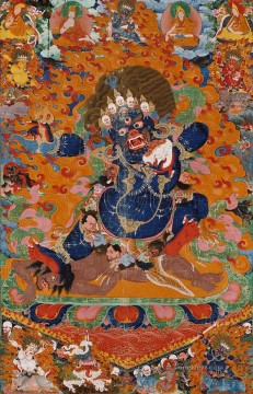 Tibet Canvas - Yamantaka Destroyer of the God of Death Tibetan Buddhism