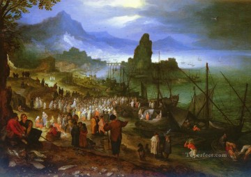 Christ Preaching At The Seaport Flemish Jan Brueghel the Elder Oil Paintings