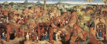 christ canvas - Advent and Triumph of Christ 1480 religious Hans Memling